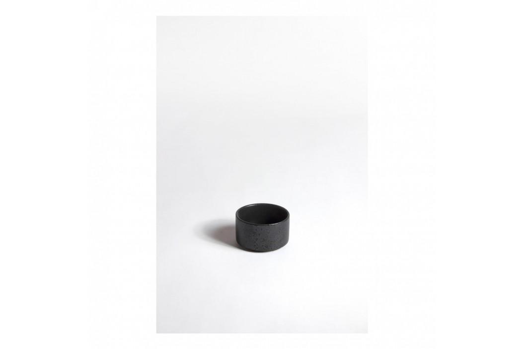 Keramická čierna miska ComingB Coupelle Droite Granite Noir
