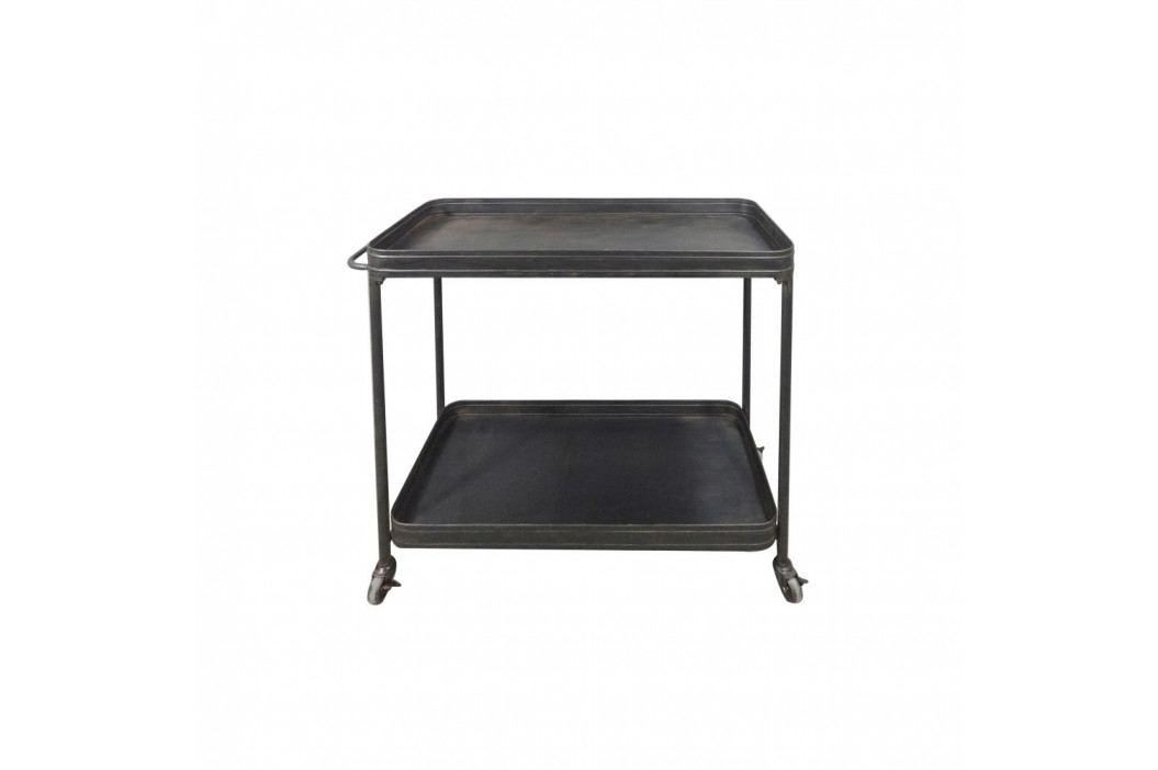 Čierny pojazdný servírovací stolík De Eekhoorn Lente