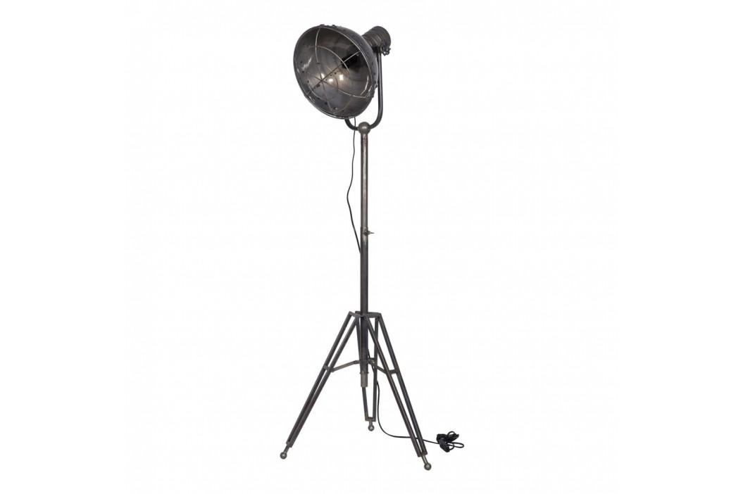 Sivá stojacia lampa De Eekhoorn Spotlight
