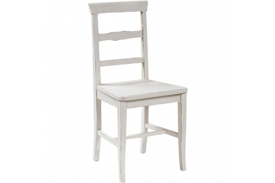 Biela jedálenská stolička z masívneho bukového dreva Biscottini Addy