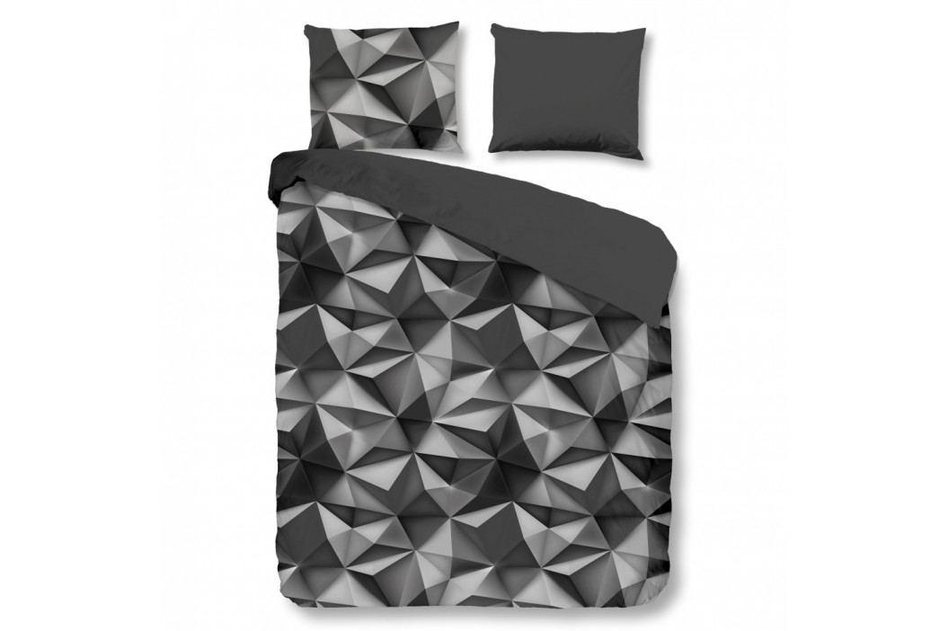 Antracitové bavlnené obliečky Müller Textiel Geo, 240×200 cm
