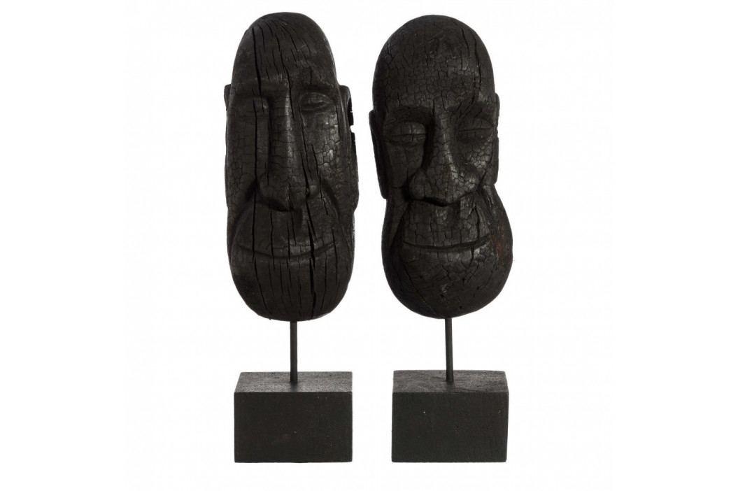 Sada 2 dekoratívnych sošiek z mangového dreva Denzzo Jarita