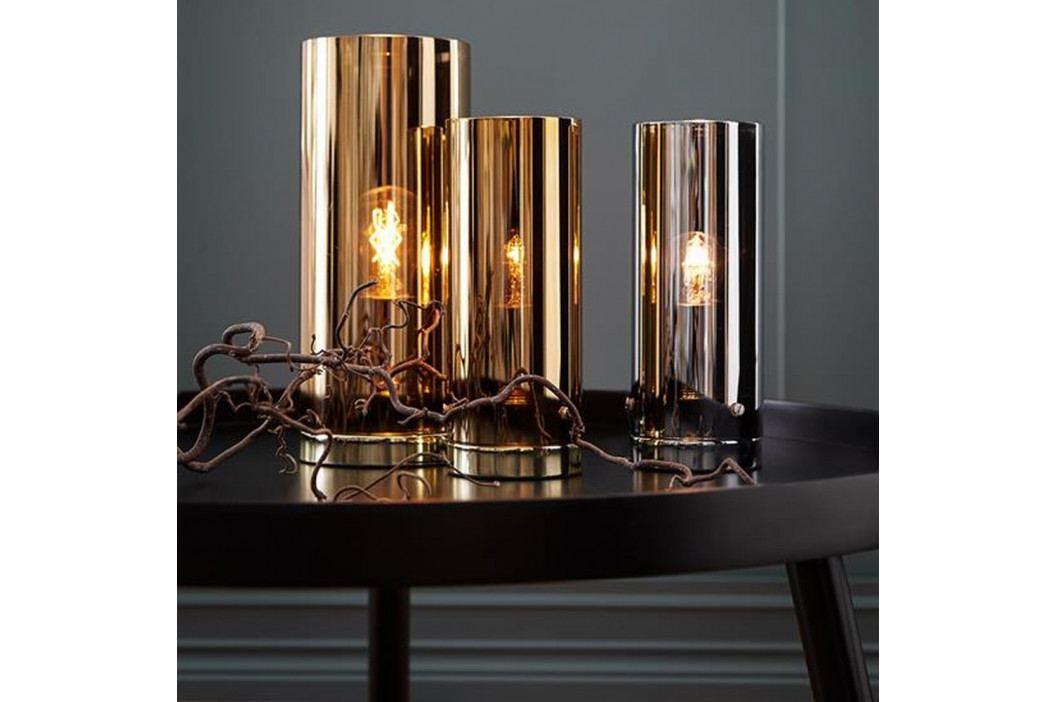 Stolová lampa v mosadznej farbe Markslöjd Storm, ⌀ 12 cm