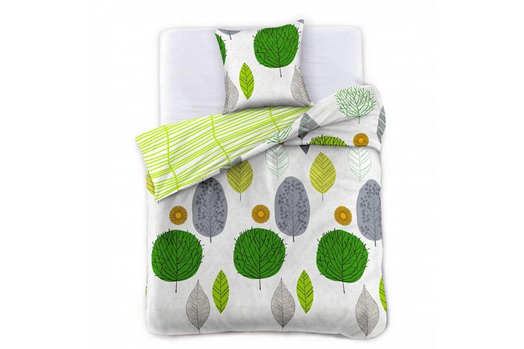Obliečka z bavlneného saténu DecoKing Greenleaf, 200×220 cm + 2 obliečky na vankúše 70 x 90 cm