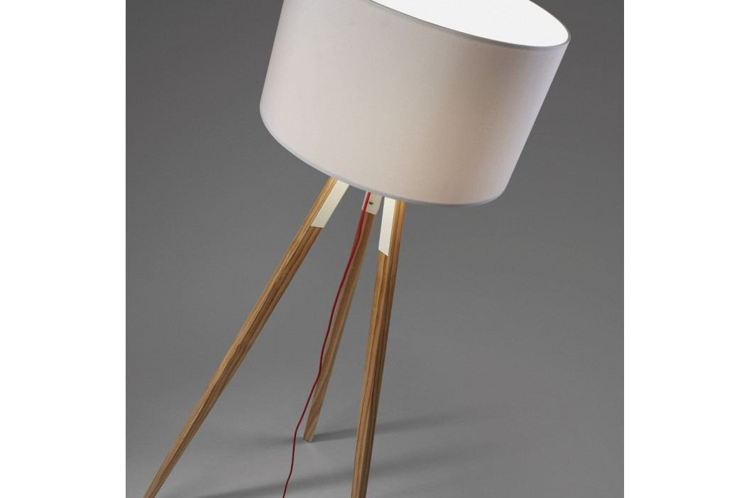 Biela stojacia lampa La Forma Uzagi