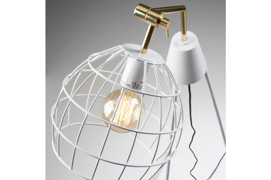 Biela voľne stojacia lampa La Forma Briana White