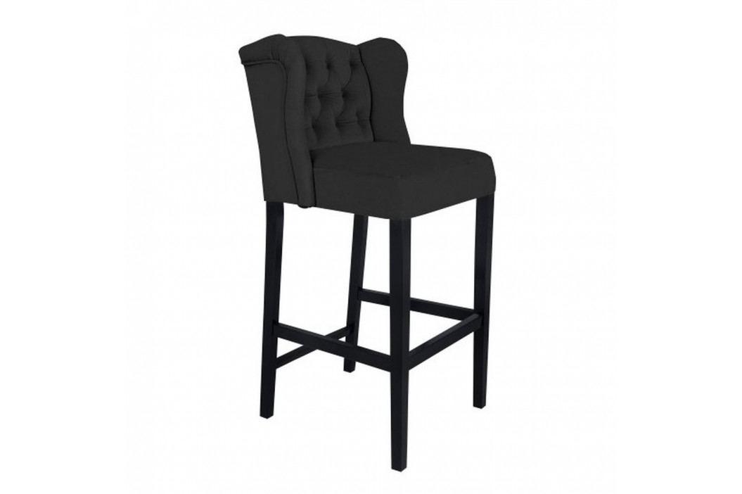 Čierna barová stolička Mazzini Sofas Roco