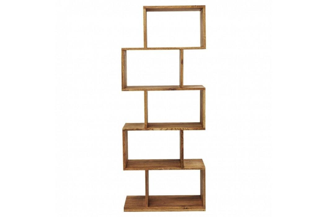 Knižnica z masívneho bukového dreva Kare Design Attento Zick Zack