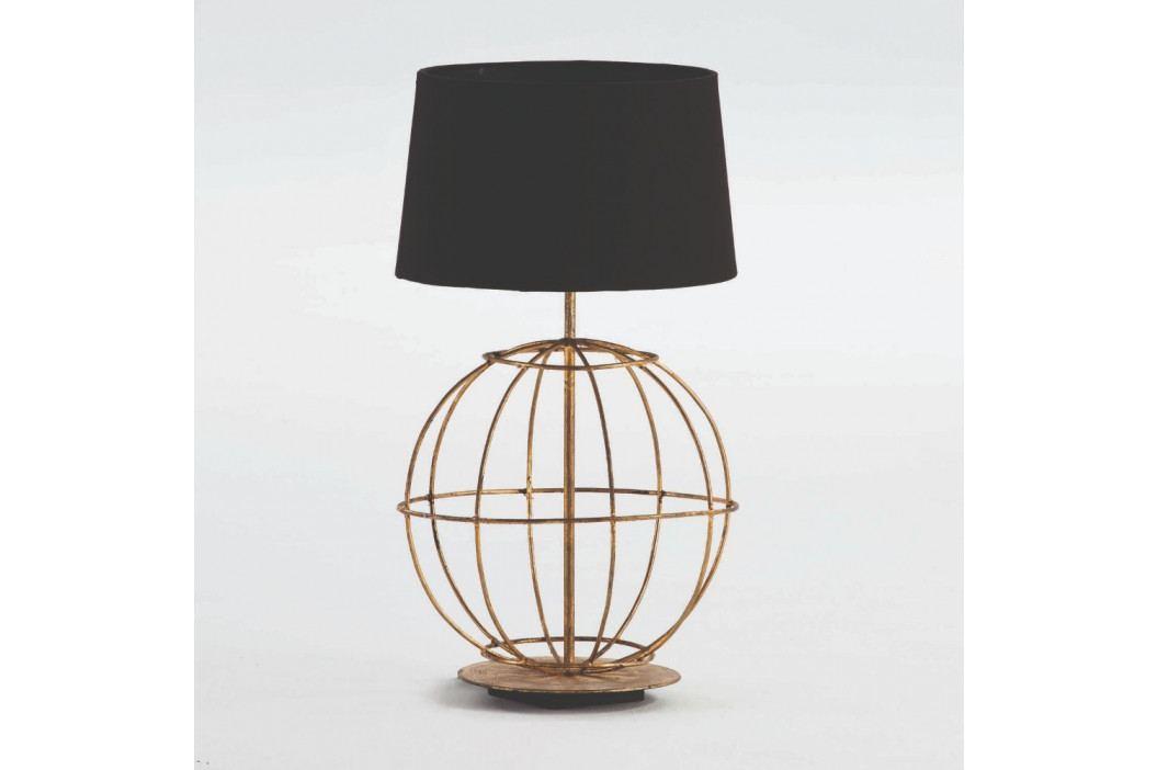 Kovová stolová lampa s čiernym tienidlom Thai Natura, výška 40 cm