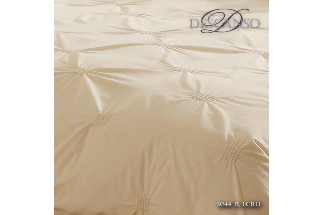 Obliečky na dvojlôžko z bavlneného saténu Muller Textiels Et Ecru, 200×200 cm