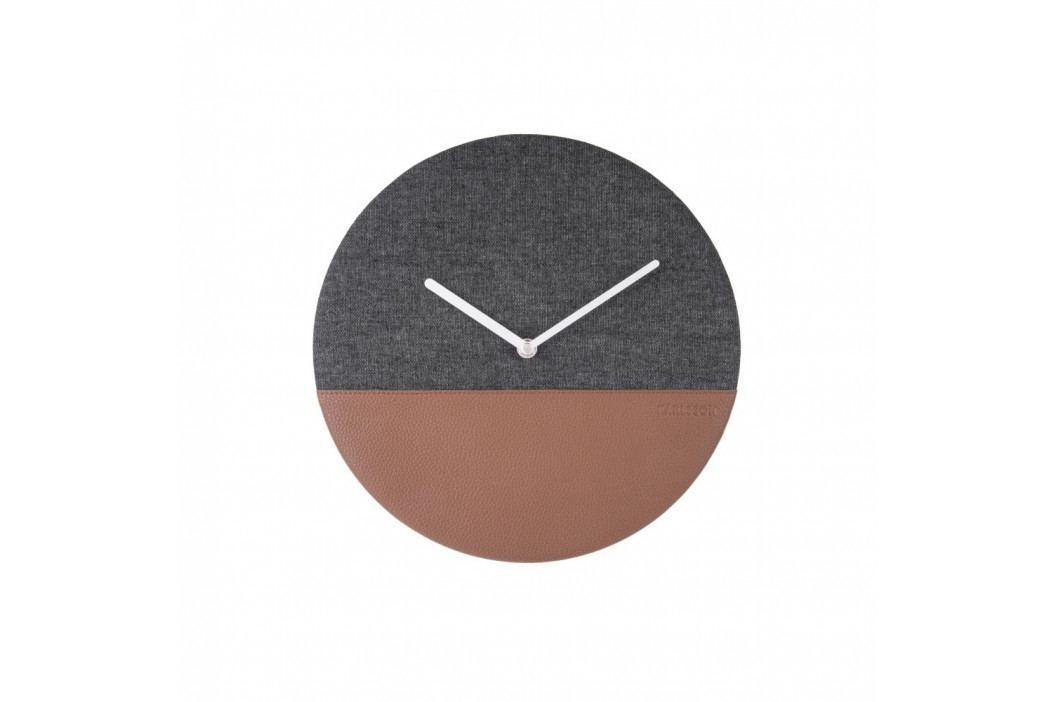 Šivo-hnedé nástenné hodiny Karlsson Surfer, Ø 30 cm