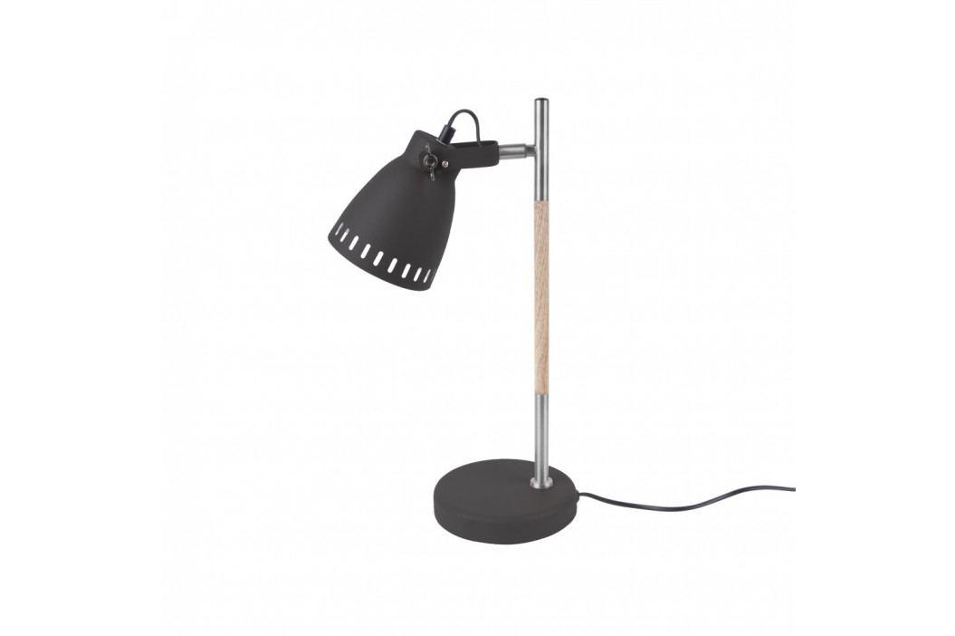 Čierna stolová lampa Leitmotiv Mingle