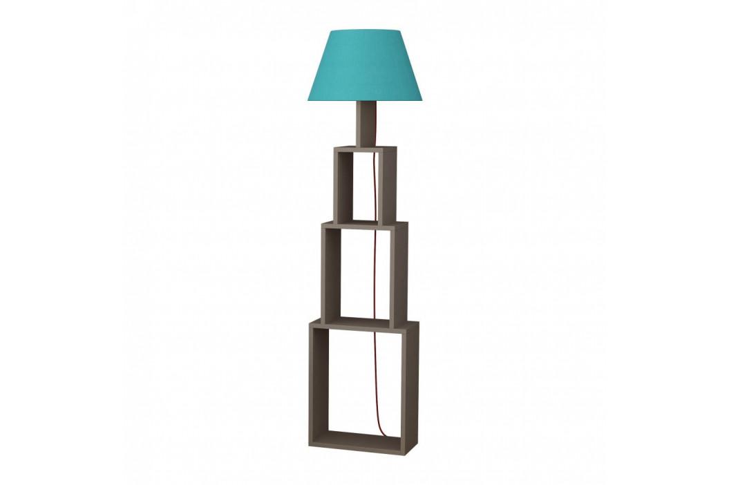 Voľne stojacia lampa so svetlomodrým tienidlom Homitis Tower