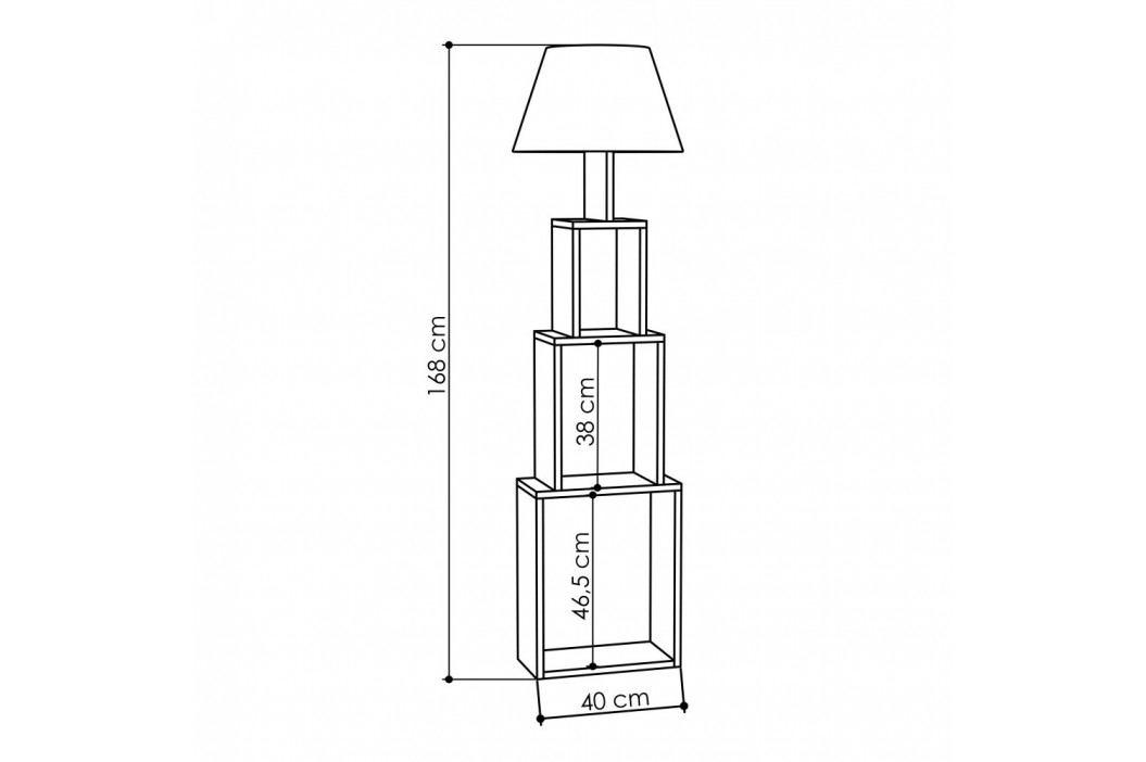 Voľne stojacia lampa so zeleným tienidlom Homitis Tower