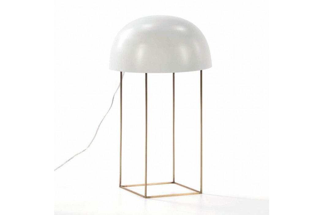 Biela stolová lampa z kovu Thai Natura Watergate