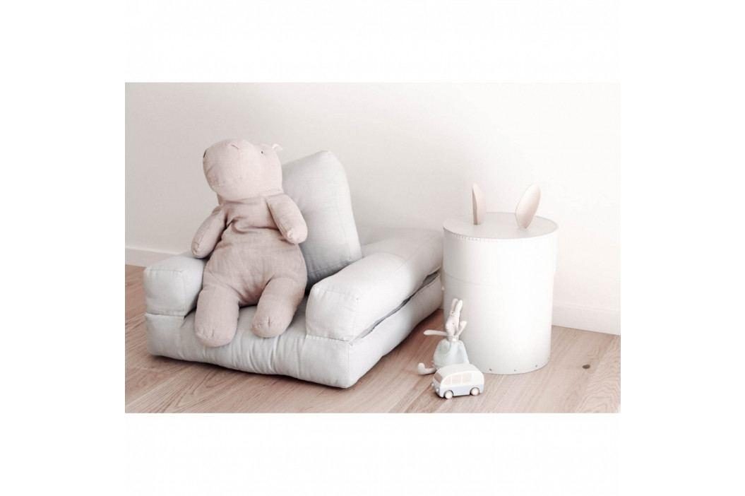 Svetloružové detské rozkladacie kresielko s taburetkou Karup Mini Cube