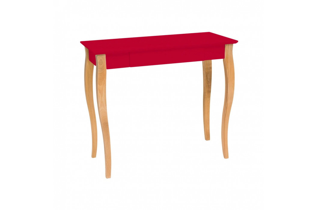 Červený písací stôl Ragaba Lillo, šírka 85 cm