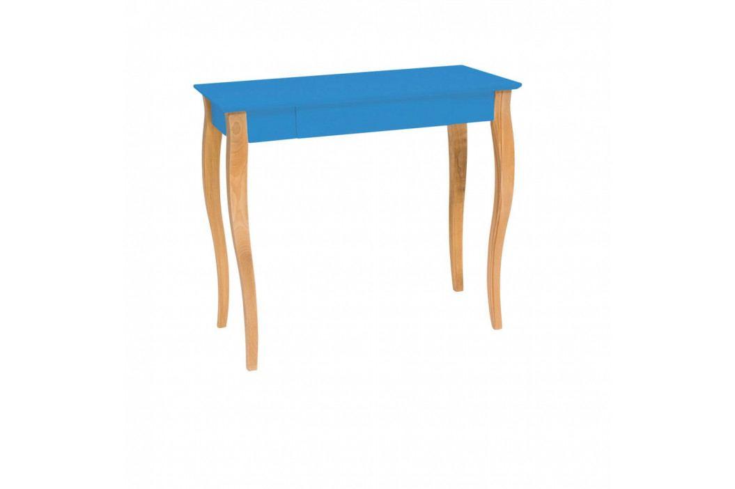 Modrý písací stôl Ragaba Lillo, šírka 85 cm