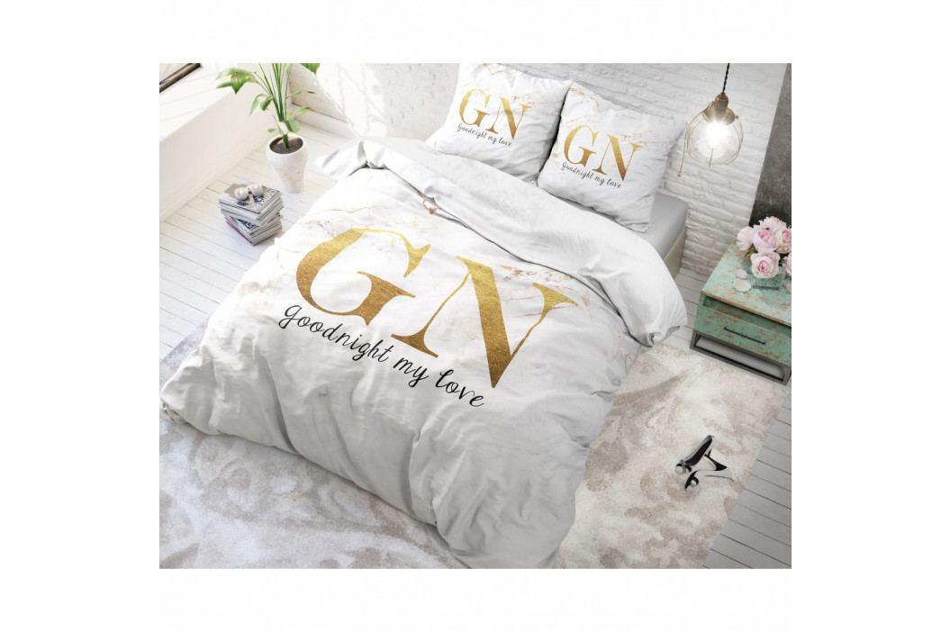 Bavlnené obliečky na jednolôžko Sleeptime Good Night, 140×220 cm