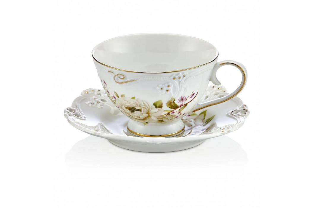 Sada 6 porcelánových hrnčekov s tanierikom Franz
