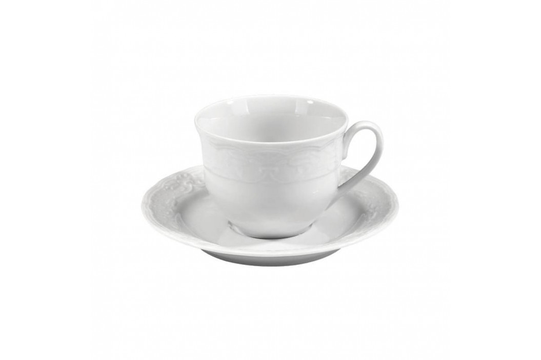 Sada 6 šálok s tanierikom z bieleho porcelánu Kutahya Concept, 50 ml