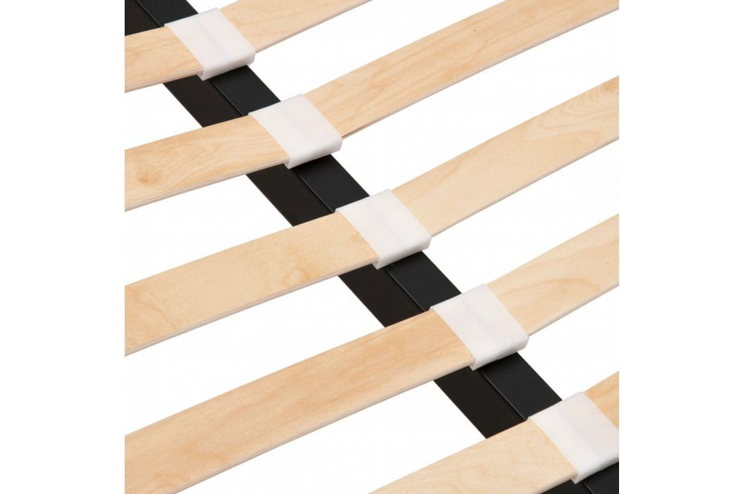 Pieskovohnedá dvojlôžková posteľ s drevenými nohami Vivonita Mae King Size, 180×200 cm