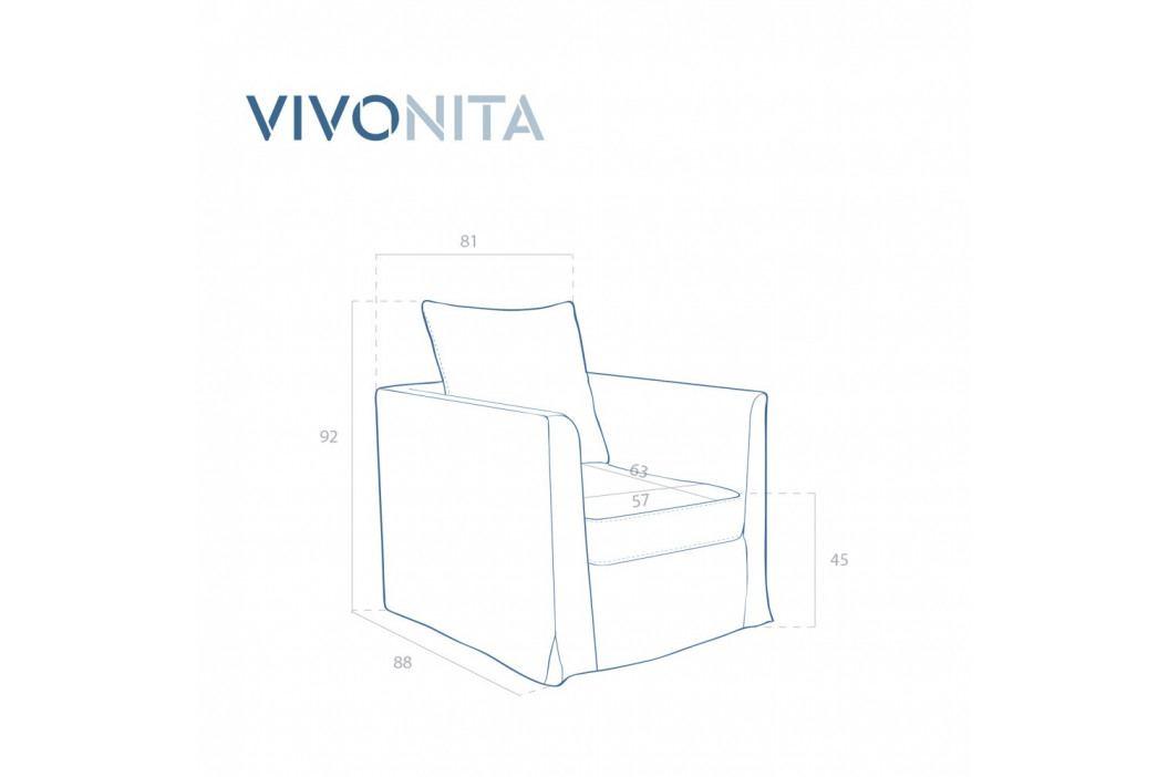 Sivé kreslo Vivonita Coraly