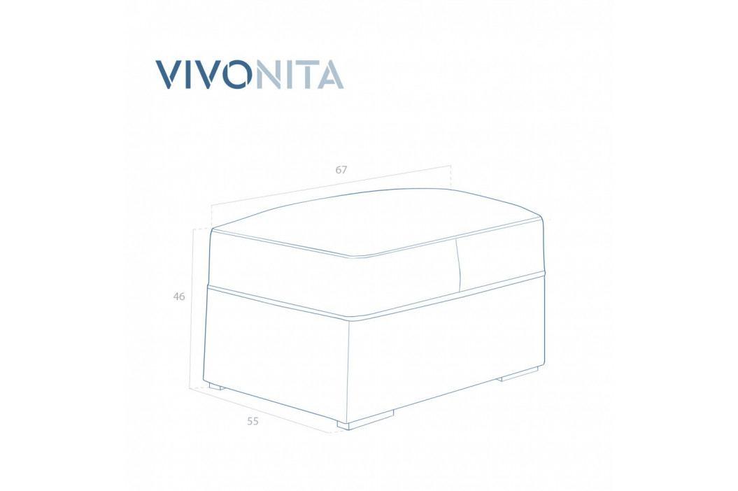 Svetlosivá podnožka Vivonita Jane