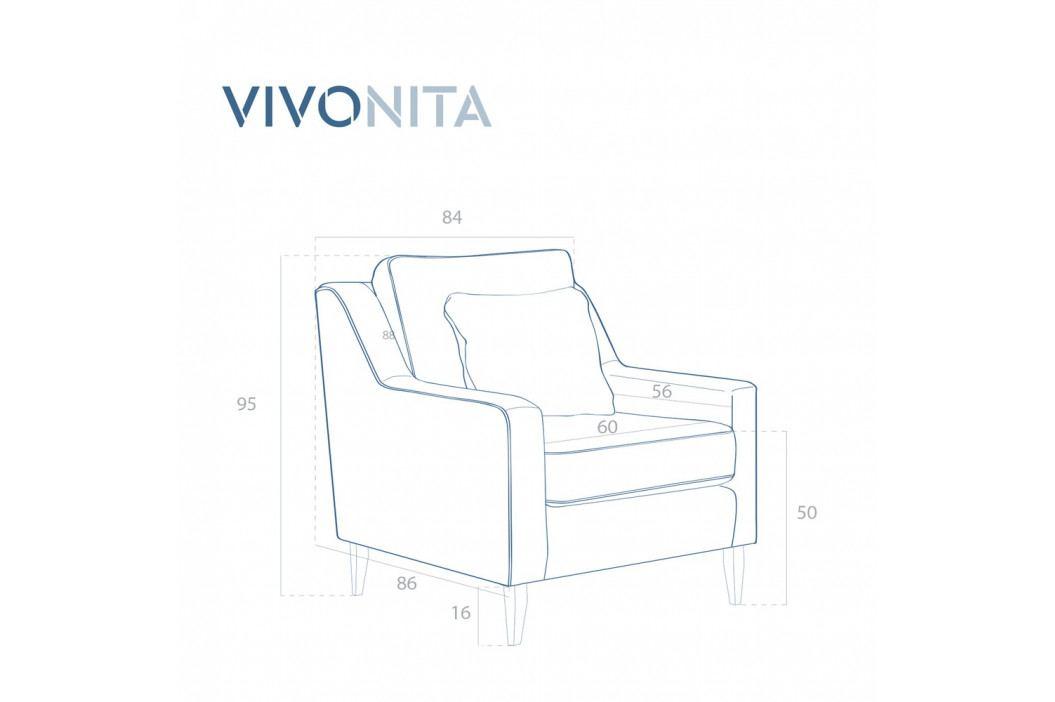 Zelené kreslo Vivonita Bond