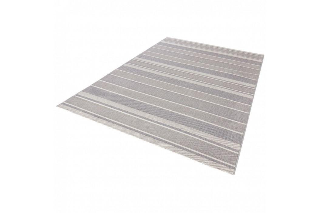 Sivý koberec vhodný aj do exteriéru Strap, 120×170 cm