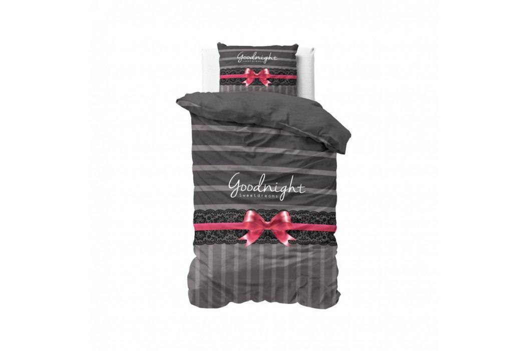 Bavlnené posteľné obliečky Sleeptime Goodnight Ribbon, 140 x 220 cm