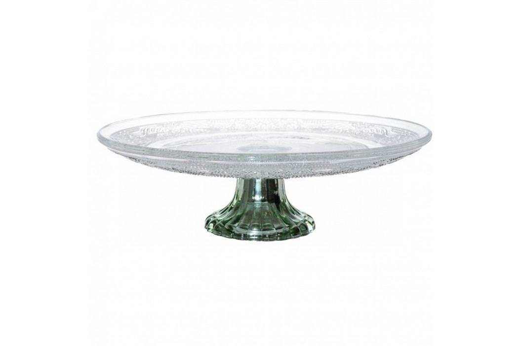 Sklenený podnos na tortu Ewax Emerald, ⌀ 28,5 cm