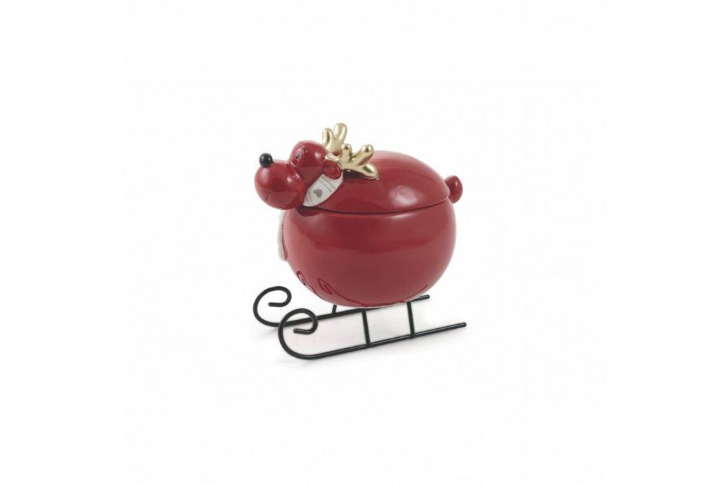 Červená vianočná dóza s vekom Villa d'Este Nicolas Scatola