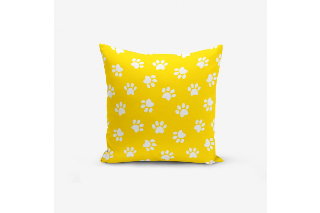 Žltá obliečka na vankúš s prímesou bavlny Minimalist Cushion Covers Yellow Background Pati, 45 × 45 cm