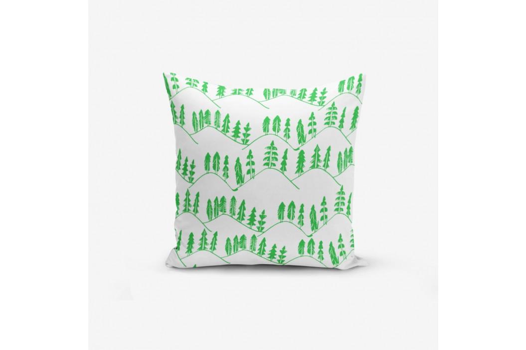 Obliečka na vankúš s prímesou bavlny Minimalist Cushion Covers Modern Agac Verde, 45×45 cm