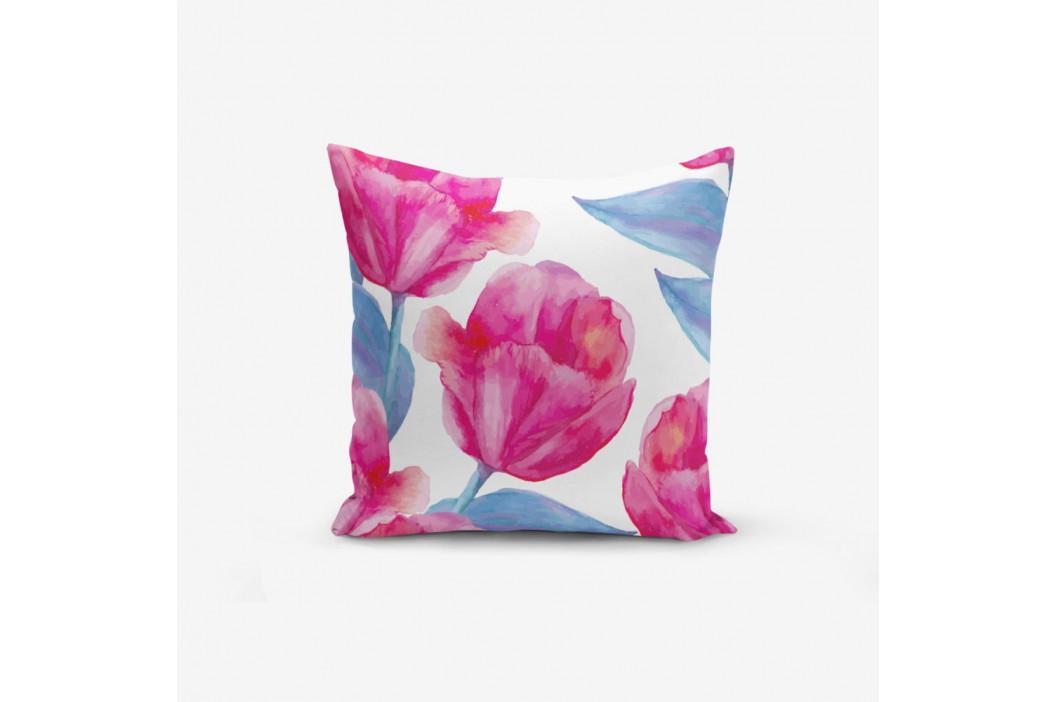Obliečka na vankúš s prímesou bavlny Minimalist Cushion Covers Aquarelle Lale, 45×45 cm