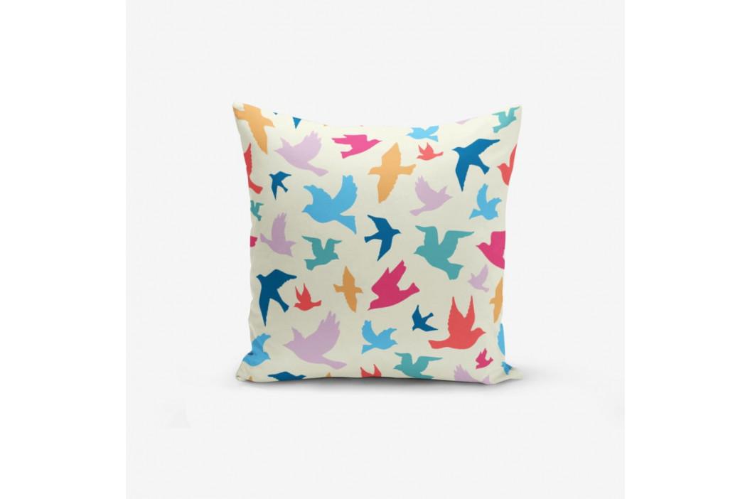 Obliečka na vankúš s prímesou bavlny Minimalist Cushion Covers Modern Birds, 45×45 cm