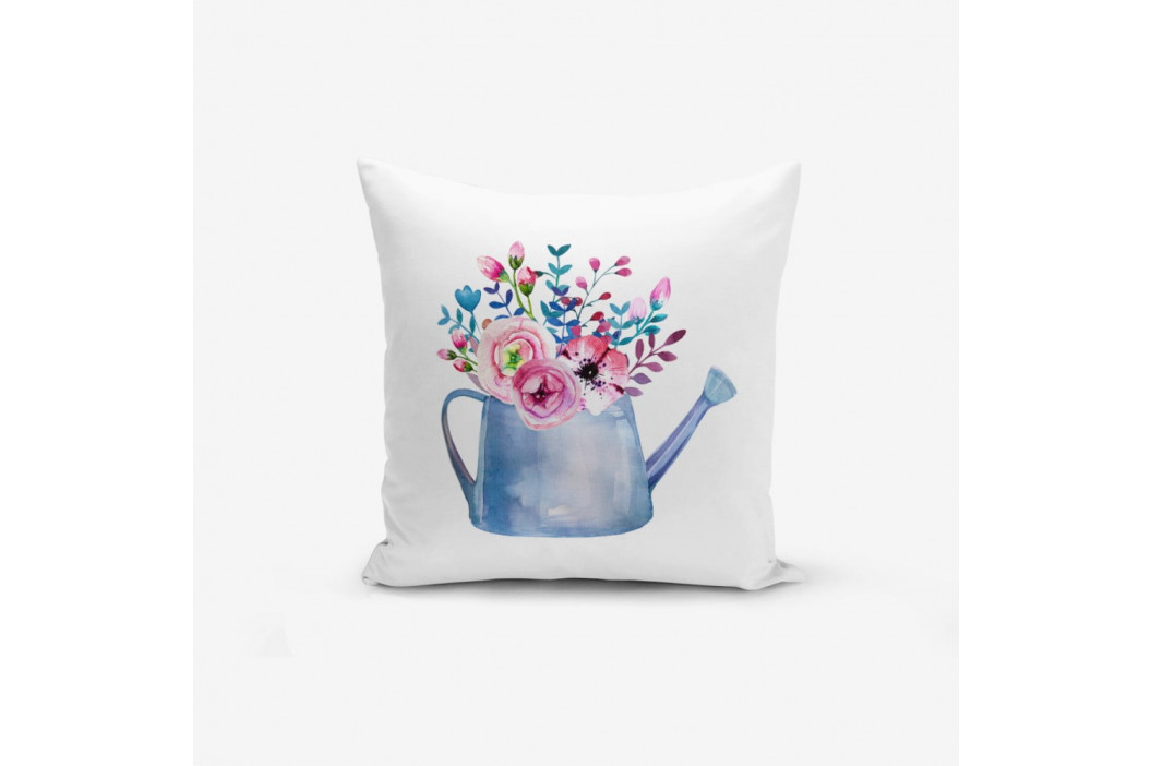 Obliečka na vankúš s prímesou bavlny Minimalist Cushion Covers Aquarelleli Flower, 45×45 cm