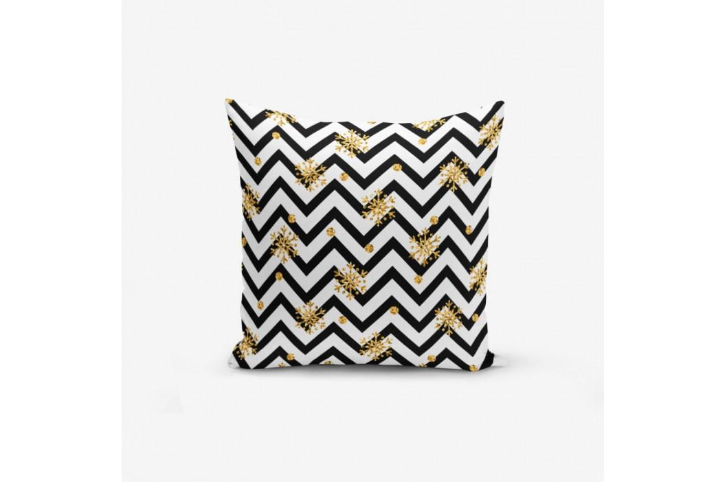 Obliečka na vankúš s prímesou bavlny Minimalist Cushion Covers Snowflake Zigzag, 45×45 cm