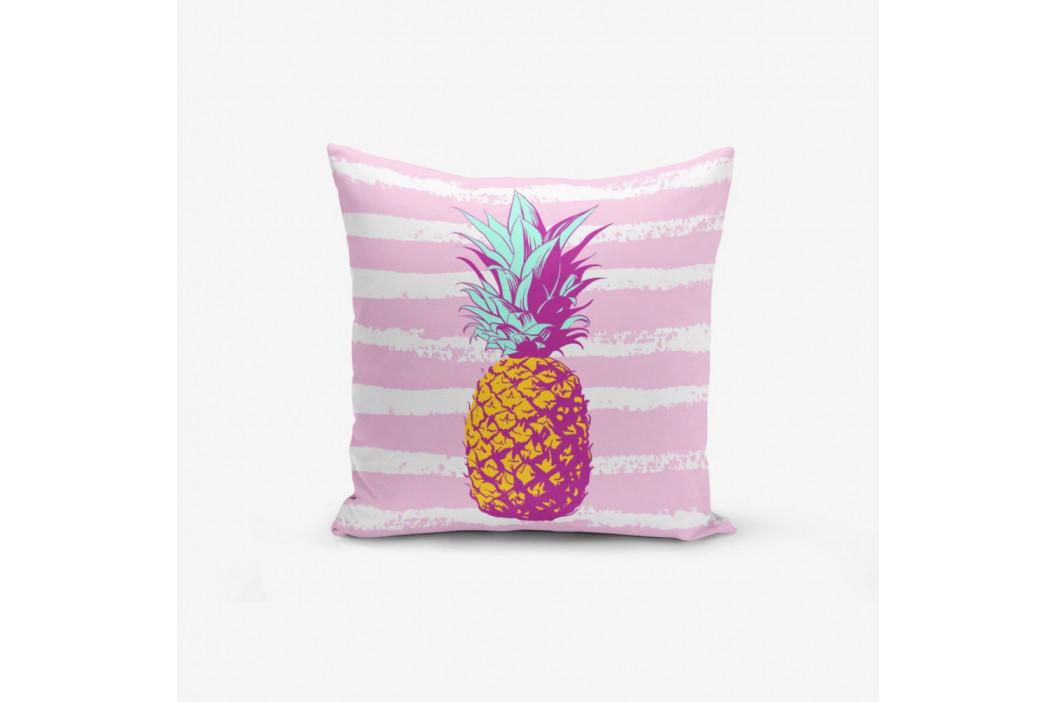 Obliečka na vankúš s prímesou bavlny Minimalist Cushion Covers Colorful Pineapple, 45×45 cm