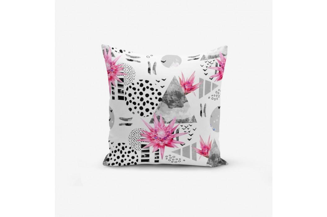 Obliečka na vankúš s prímesou bavlny Minimalist Cushion Covers Bat Petegi Lotus Cicegi, 45×45 cm