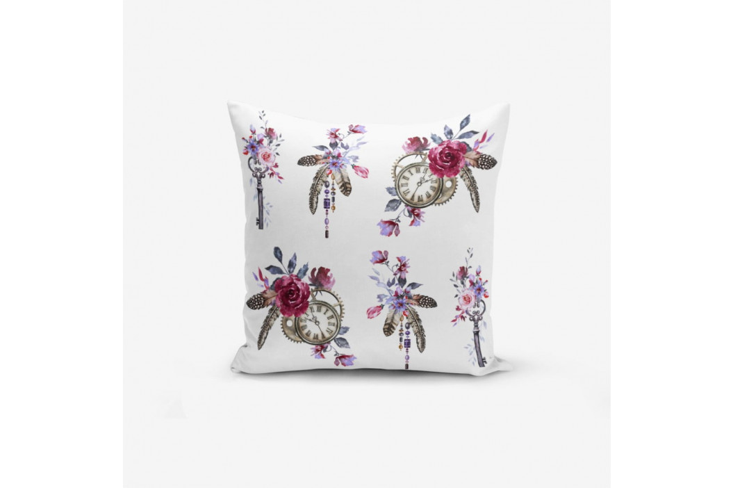 Obliečka na vankúš s prímesou bavlny Minimalist Cushion Covers Pocket Clock Key, 45×45 cm