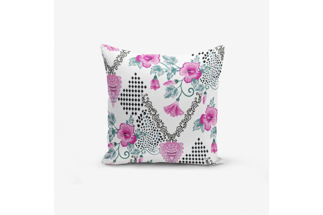 Obliečka na vankúš s prímesou bavlny Minimalist Cushion Covers Kare With Points Heart Kolye, 45×45 cm