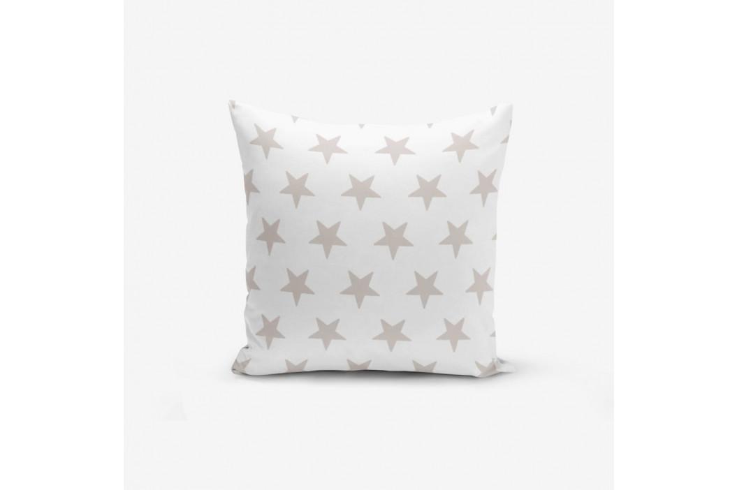 Obliečka na vankúš s prímesou bavlny Minimalist Cushion Covers Light Grey Star Modern, 45×45 cm
