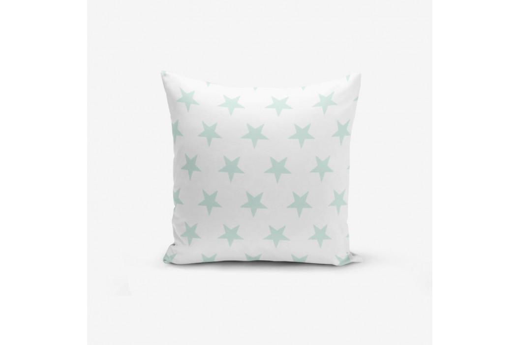Obliečka na vankúš s prímesou bavlny Minimalist Cushion Covers Cloud Blue Star, 45×45 cm
