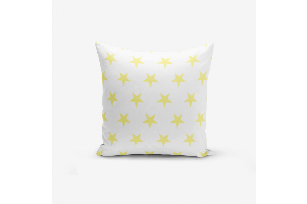Obliečka na vankúš s prímesou bavlny Minimalist Cushion Covers Yellow Star, 45×45 cm