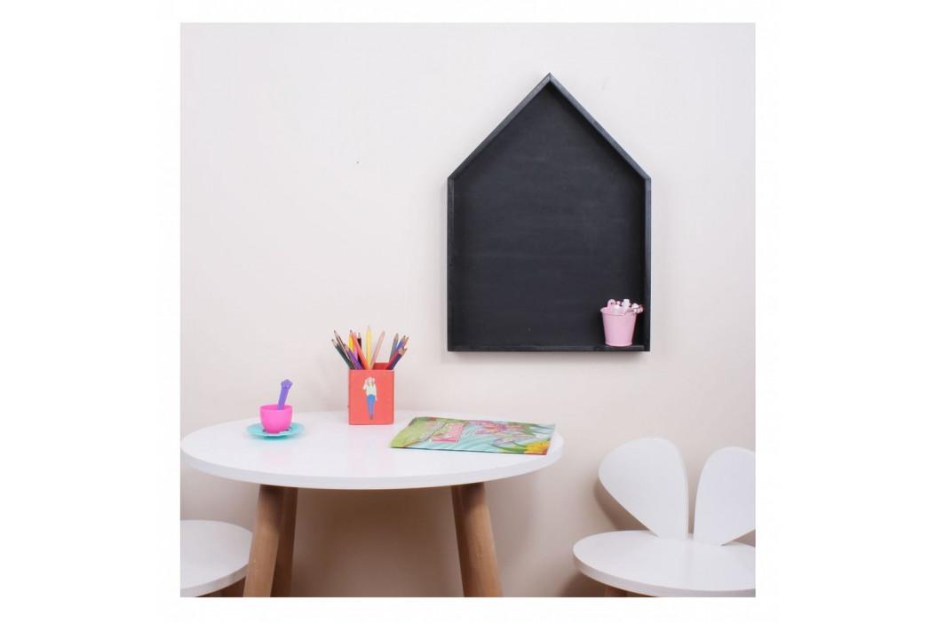 Čierna nástenná polica s tabuľou North Carolina Scandinavian Home Decors Maison