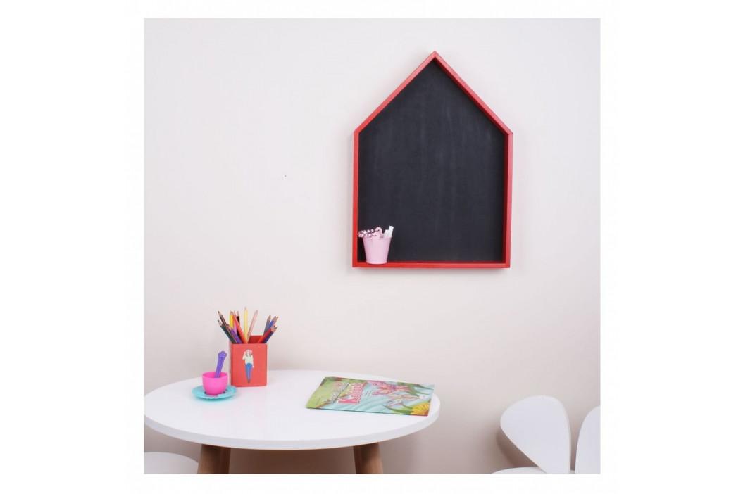Červená nástenná polica s tabuľou North Carolina Scandinavian Home Decors Maison