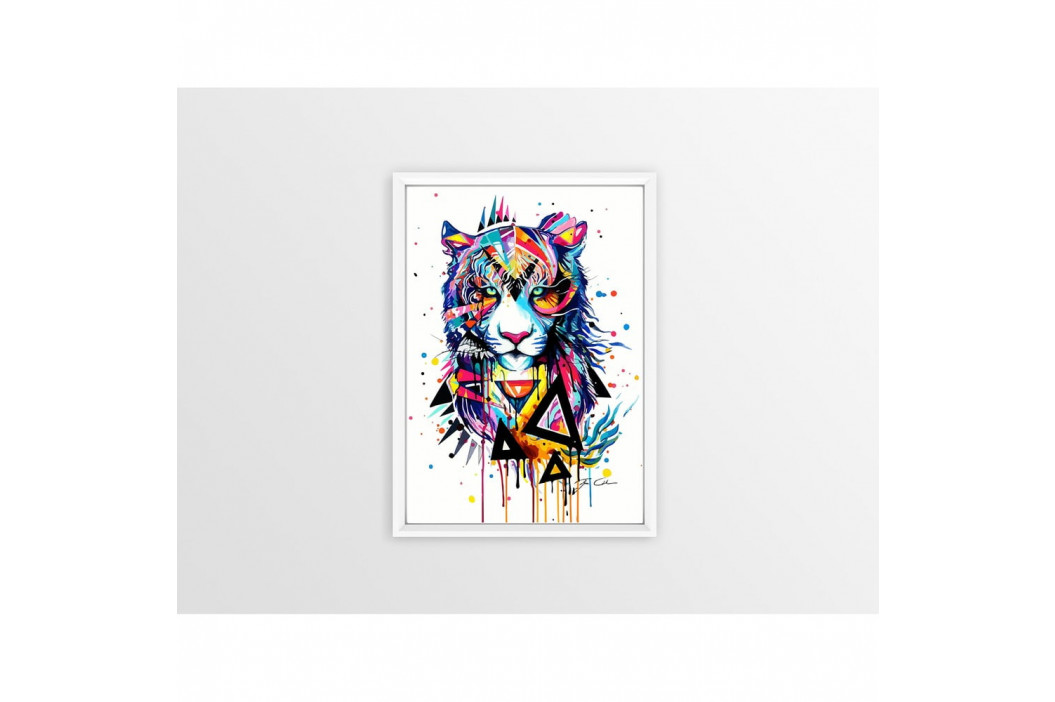 Plagát Piacenza Art Rainbow Tiger