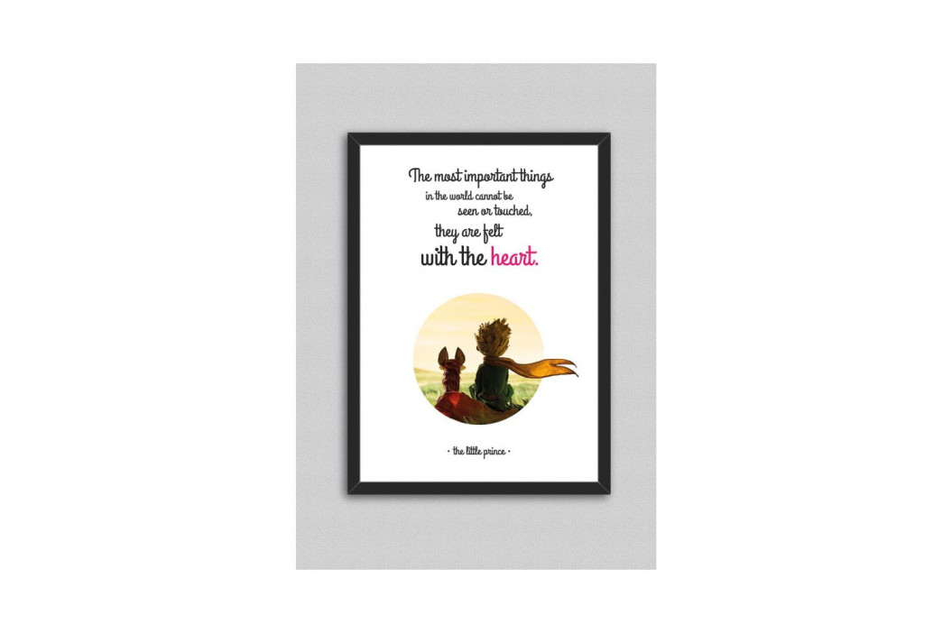Obraz North Carolina Scandinavian Home Decors Little Prince Quote V2, 33×43 cm